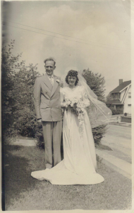 wedding photo of Harry S. McCartney and Rita G. Munenger